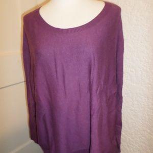 Eileen Fisher Ballet Neck Cotton Knit Sweater Top